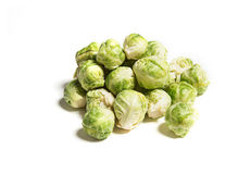 Baby brussels sprouts isolated on white Stock Photography