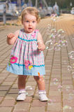 Baby with bubbles Royalty Free Stock Photos