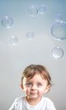 Baby and bubbles Royalty Free Stock Photos