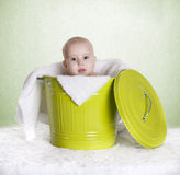 Baby bucket Royalty Free Stock Photography