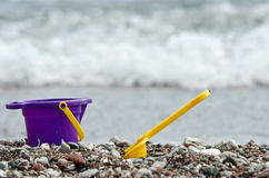 Baby bucket and spade Stock Photography