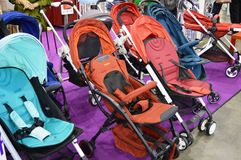 Baby buggies & strollers Stock Images