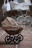 Baby buggy. Historical baby buggy waiting for children Stock Image