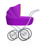 Baby buggy. Vector illustration on white background stock illustration