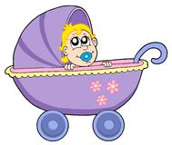 Baby in buggy. Vector illustration vector illustration
