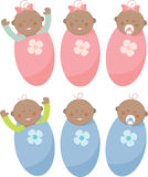 Baby Buggy. Girls and boys  baby set Stock Images