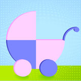 Baby buggy park Royalty Free Stock Photography