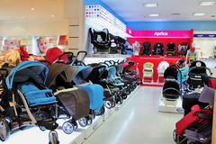Baby buggy Store Stock Image