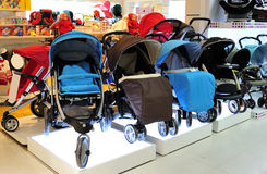 Baby buggy Store Stock Photography