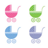 Baby buggy. Vector illustration. Royalty Free Stock Photo