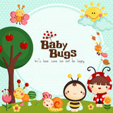 Baby Bugs card Stock Photo