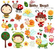 Baby Bugs vector Royalty Free Stock Images
