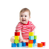 Baby building block toys Royalty Free Stock Image