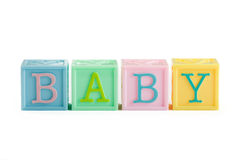 Baby building blocks Royalty Free Stock Images