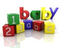 Baby building blocks. 3D render of building blocks for babies Stock Images