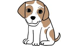 Puppy dog vector Stock Photography
