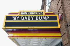Baby Bump Movie Marquee Royalty Free Stock Photo