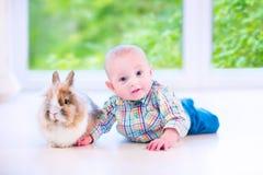 Baby and bunny Royalty Free Stock Photo