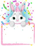 Baby Bunny Birthday stock illustration