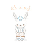 Baby bunny boy Royalty Free Stock Image