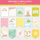 Baby Bunny Card Set Royalty Free Stock Photography