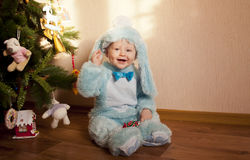 Baby in bunny costume Royalty Free Stock Photo
