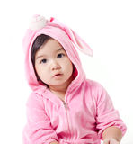 Baby in a bunny custom Royalty Free Stock Photography