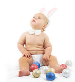 Baby with Bunny Ears Stock Photography