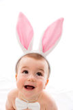 Baby with bunny ears Royalty Free Stock Images