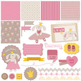 Baby Bunny Girl Set royalty free illustration