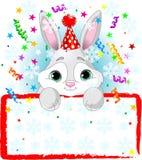 Baby Bunny New Year Stock Photo