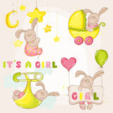 Baby Bunny Set - for Baby Shower Royalty Free Stock Images