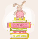 Baby Bunny Shower or Arrival Card Royalty Free Stock Images