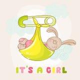 Baby Bunny Shower Card Royalty Free Stock Photos
