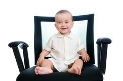 Baby in bureauleunstoel Royalty-vrije Stock Foto's