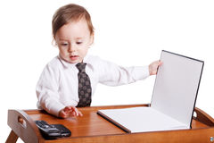Baby businessman Royalty Free Stock Image