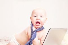 Baby businessman Royalty Free Stock Images