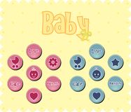 Baby buttons Royalty Free Stock Images
