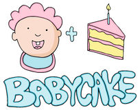 Baby Cake Valetines Message Stock Photography