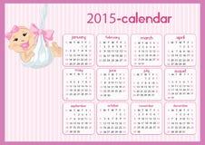 Baby Calendar for girls Stock Photos