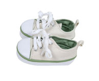 Baby Canvas Shoes Royalty Free Stock Photos