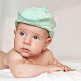 Baby in a cap Royalty Free Stock Photo