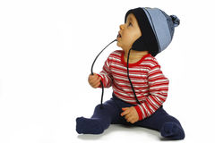 Baby in cap royalty free stock image