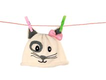 Baby cap on whaite  background Royalty Free Stock Photography