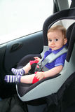 Baby in car. Seat for safety Royalty Free Stock Photography