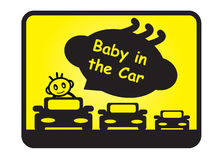 Baby in the car Royalty Free Stock Photo