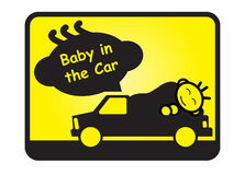 Baby in the car Royalty Free Stock Photos