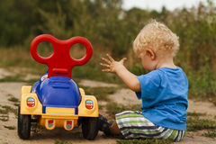 Baby car broken stock photos