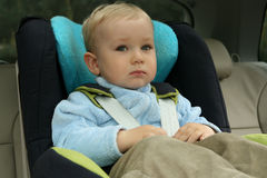 Baby in car seat Royalty Free Stock Images