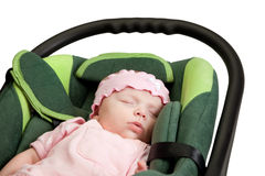 Baby in Car Seat Stock Photography